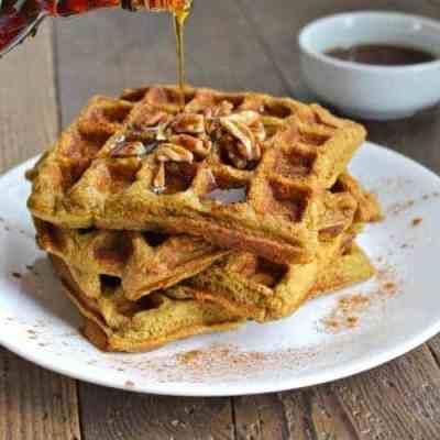 Grain-free Sweet Potato Plantain Waffles