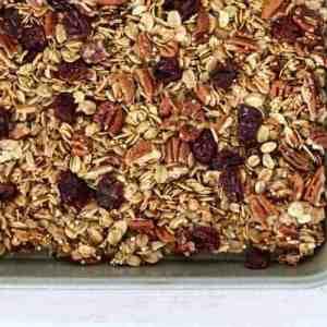 Cherry Pecan Granola with Quinoa