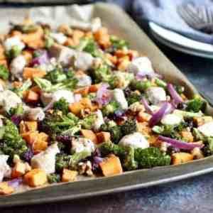One-Pan Sweet Potato Broccoli Chicken Bake