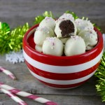 Peppermint Brownie Batter Truffles