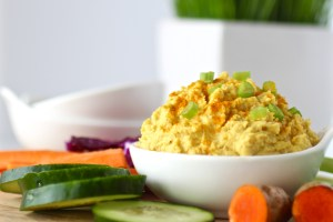 A recipe inspired by a favorite curry flavored hummus. This Cauliflower Curry Hummus is bean-free, whole-30 friendly and perfect for dipping veggies into.   Paleo   Whole 30   Vegan   Grain-free   http://simplynourishedrecipes.com/cauliflower-curry-hummus/