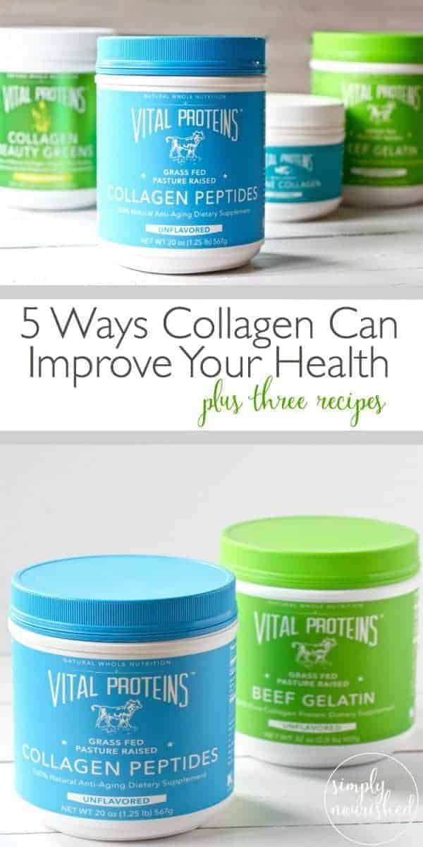 5 Way Collagen Can Improve Your Health | 3 ways to add collagen to your diet | Plus 3 Recipes - Margarita Green Smoothie, Gut-healing Cinnamon Coconut Latte & Dairy-free Vanilla Bean Ice Cream