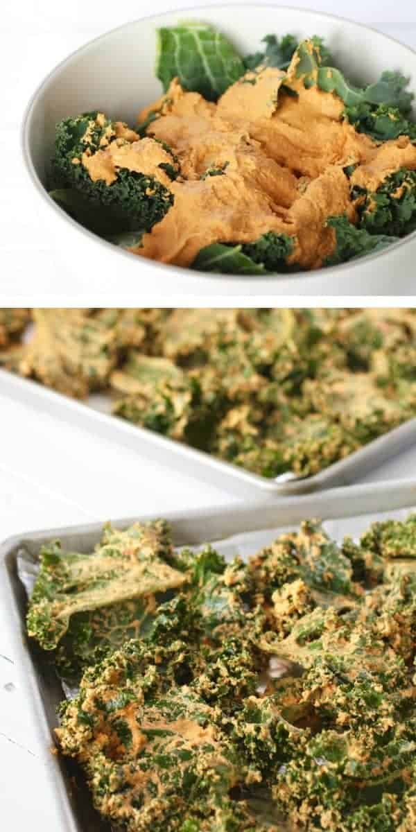 Cheese Pizza Kale Chips