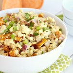 Cauliflower Sweet Potato Salad with Bacon