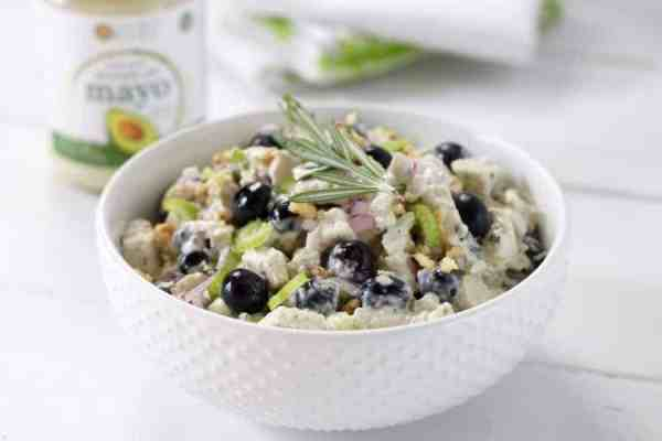Blueberry Chicken Salad with Rosemary | https://therealfoodrds.com/blueberry-chicken-salad-rosemary/