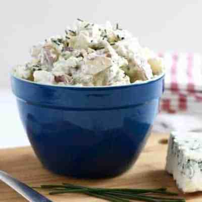 Blue Cheese Potato Salad with Chives