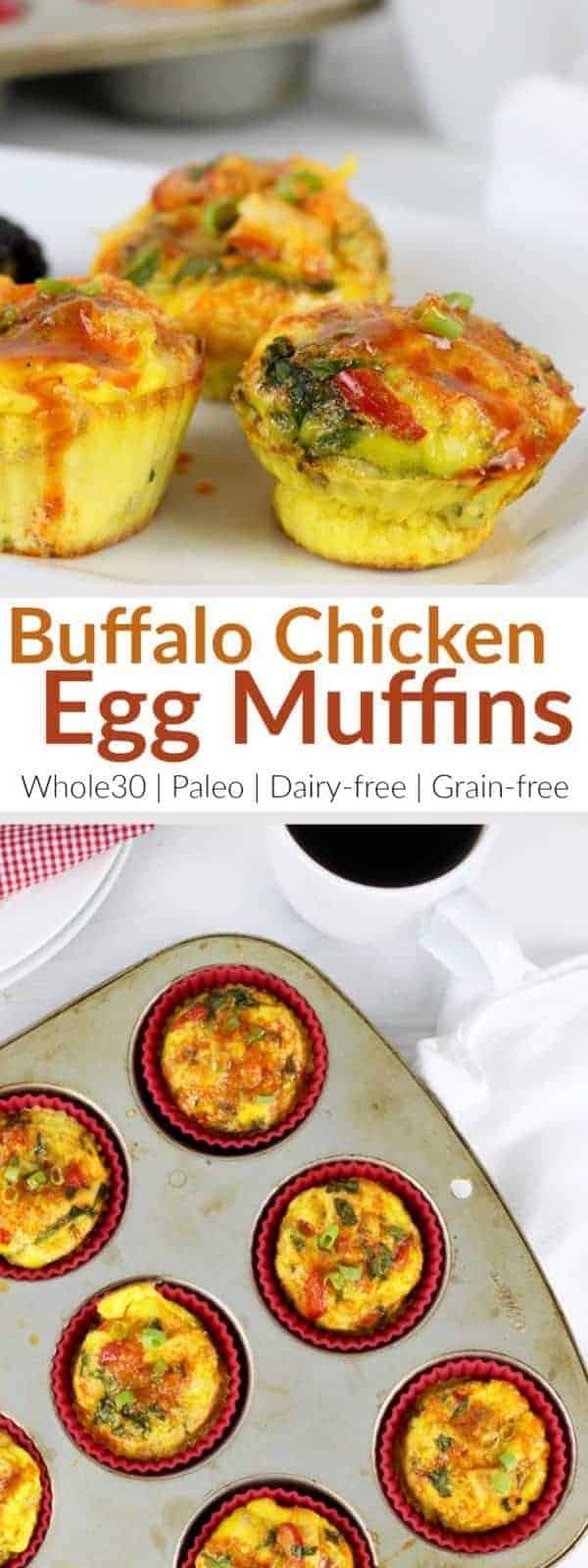 Buffalo Chicken Egg Muffins