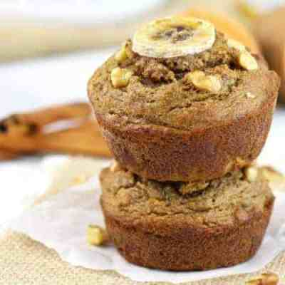 Grain- free Sweet Potato Banana Nut Muffins