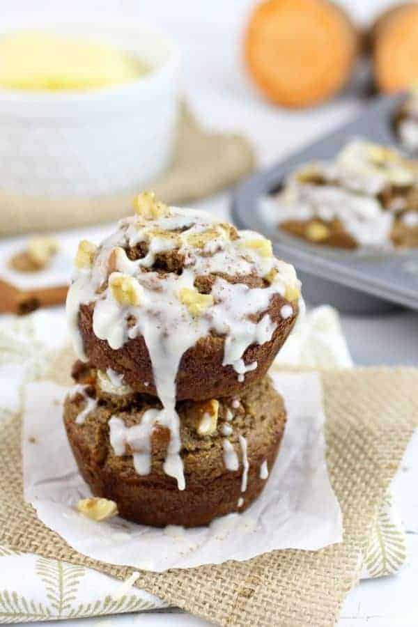 Sweet Potato Banana Nut Muffins