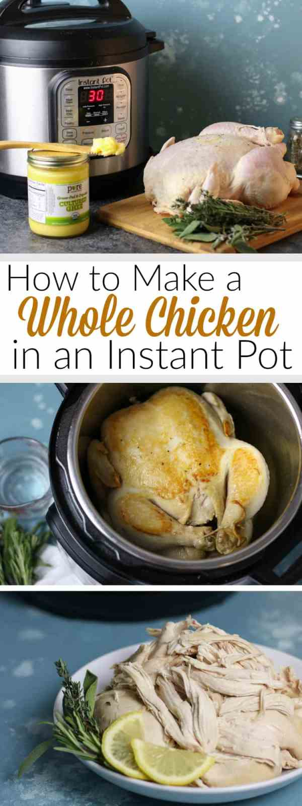 How to make a Whole Chicken in an Instant Pot | instant pot tips and tricks | cook a whole chicken | whole chicken recipes | easy whole chicken recipes | instant pot chicken recipes | kitchen tips and tricks || The Real Food Dietitians #wholechicken #instantpot #easyrecipes