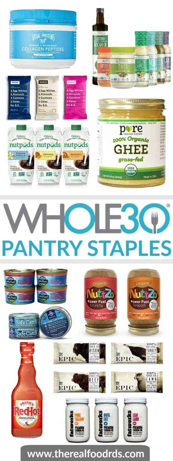 Whole30 Pantry Staples | whole30 prep | how to prepare for a whole30 | whole30 must haves | what to buy for a whole30 || The Real Food Dietitians #whole30prep #whole30staples #whole30pantry