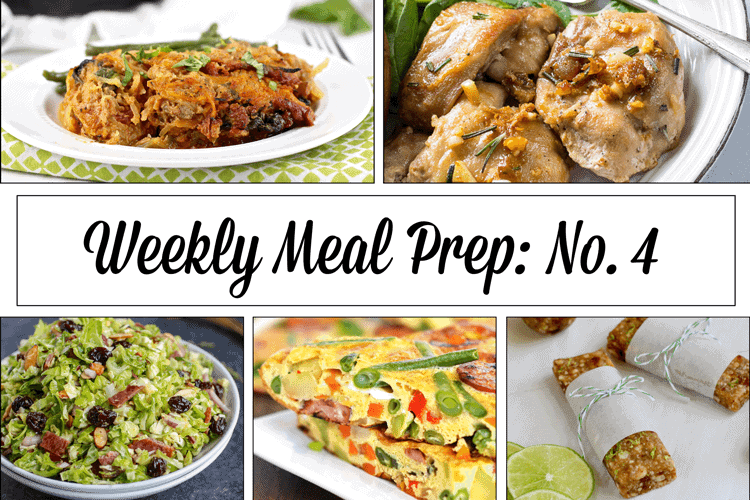 Weekly Meal Prep Menu: No. 4