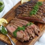 Balsamic Flank Steak with Chimichurri Sauce