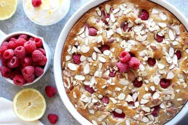 Raspberry Lemon Coffee Cake