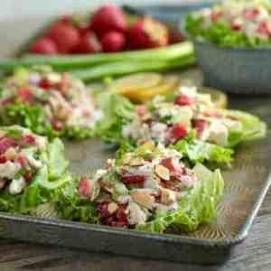 Strawberry Chicken Poppy Seed Salad