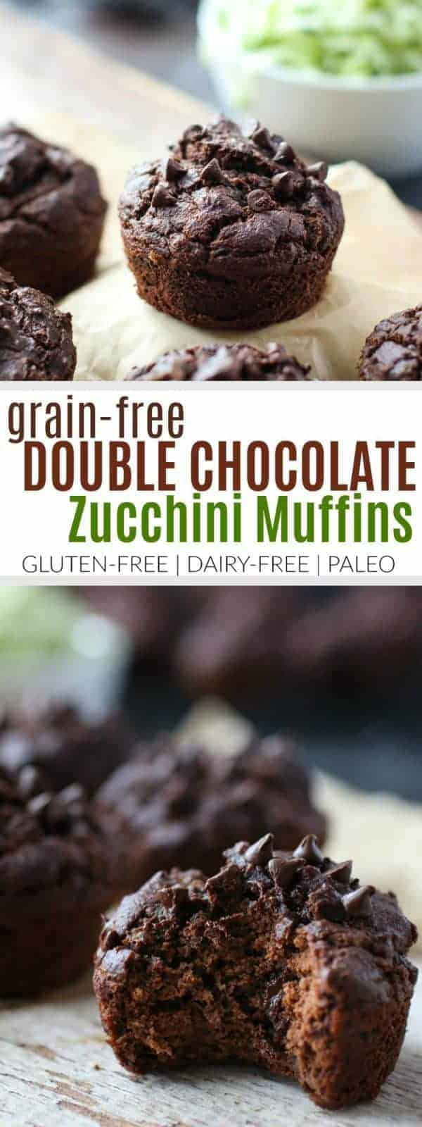 Grain-free Double Chocolate Zucchini Muffins - The Real Food ...