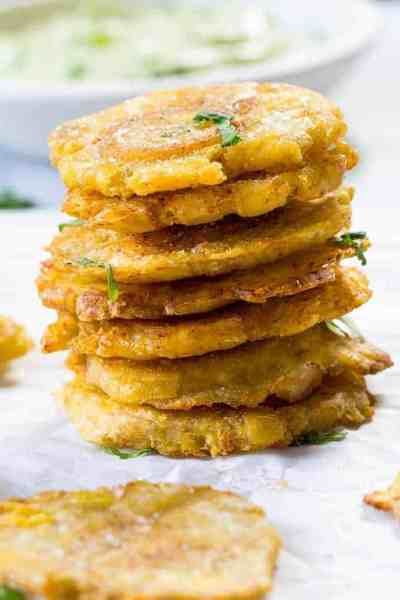 Tostones with Avocado Ranch | 30 Whole30 Appetizers | healthy appetizer recipes | whole30 approved appetizers | gluten-free appetizers | easy healthy appetizers || The Real Food Dietitians #whole30appetizers #whole30recipes #healthyappetizers