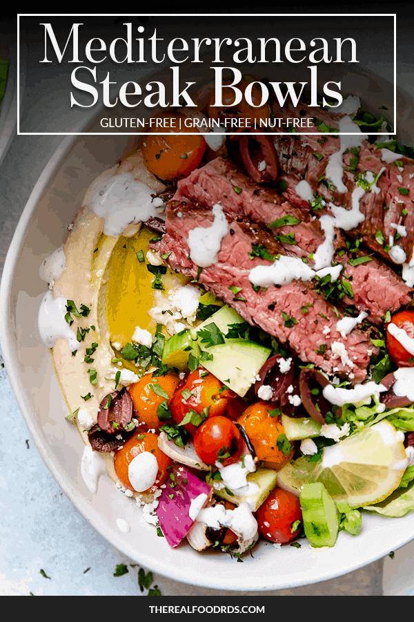 Pin image for Mediterranean Steak Bowls