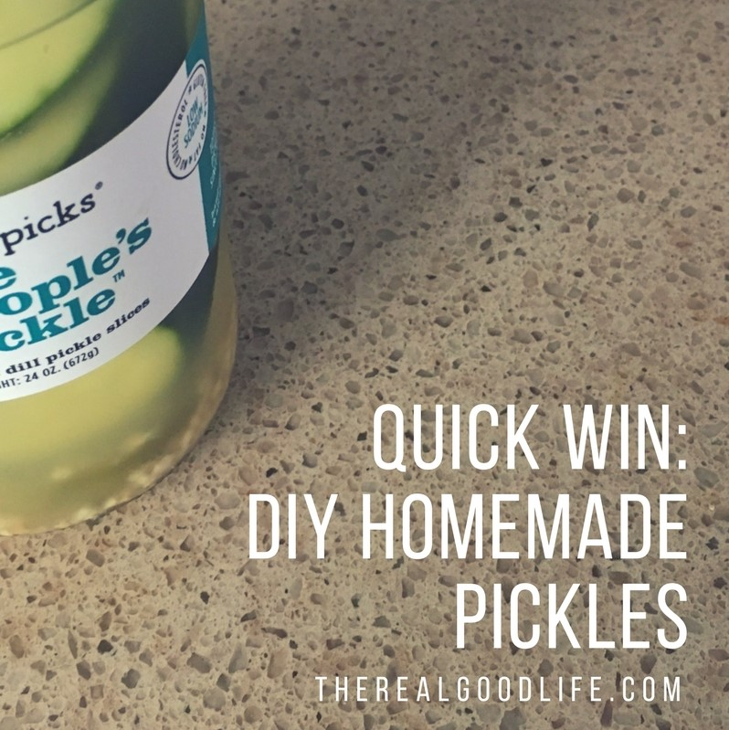 Quick Win In the Kitchen: Make Your Own Pickles