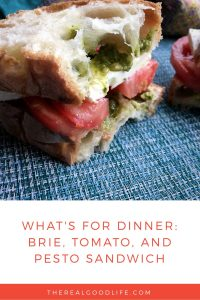 Brie, Tomato and Pesto Sandwich