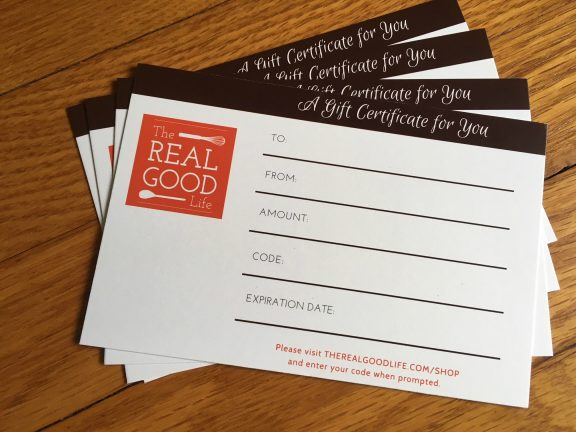 The Real Good Life Print Gift Certificate
