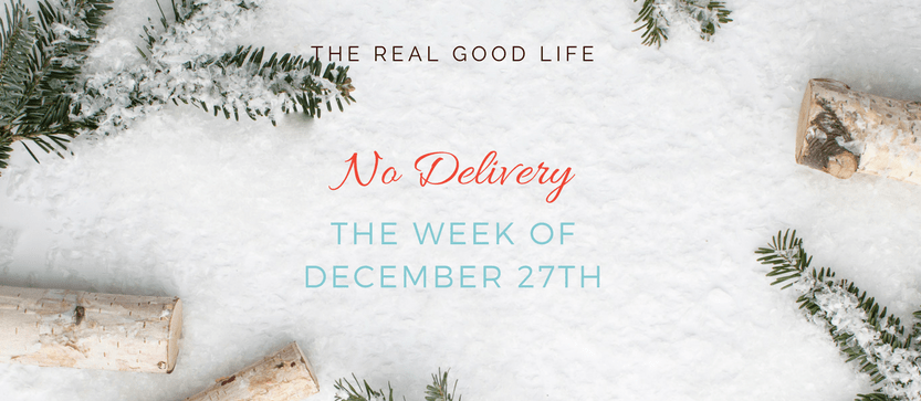 No Delivery December 27th