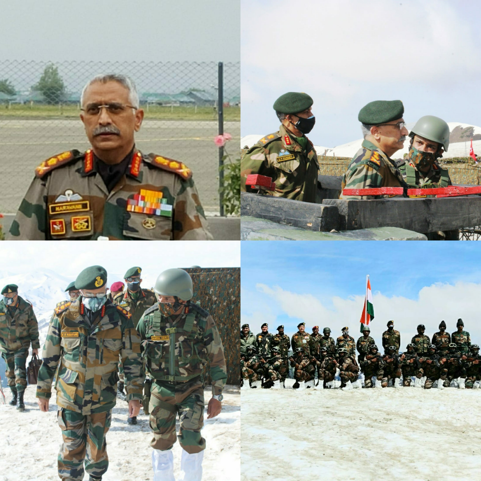 Chief of Army Staff Reviews Security Along The Line of Control in Kashmir