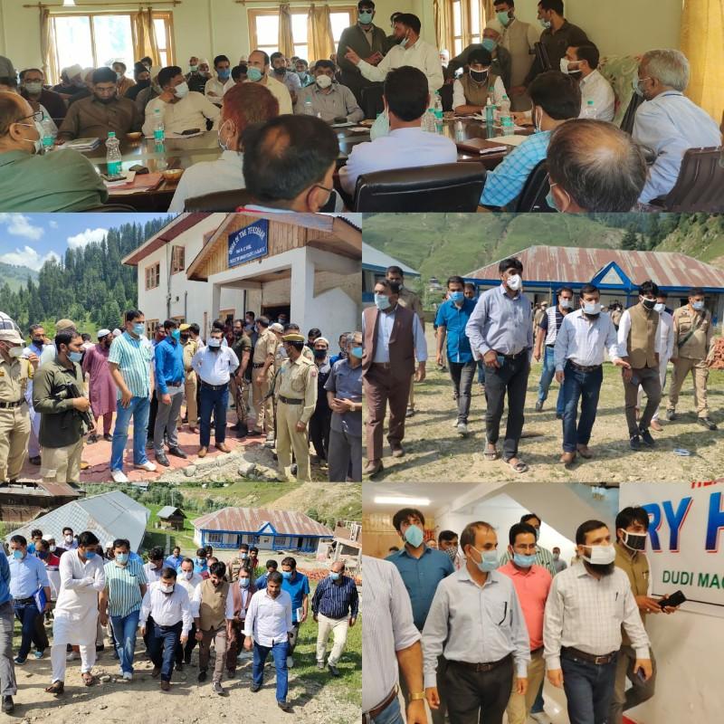 DC Kupwara visits Machill, reviews development profile