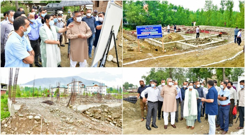 Advisor Farooq Khan visits Ganderbal, takes stock of ongoing construction projects of SWD