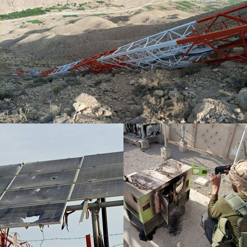 Baloch Armed Group destroys cellular tower in Kalat