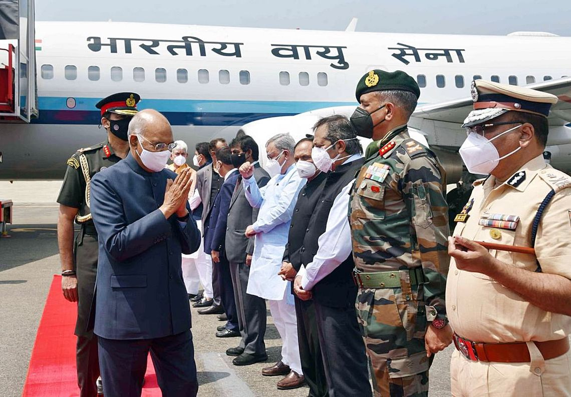 Due to bad weather the Hon'ble President Ram Nath Kovind's Kargil visit was cancelled