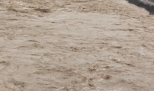 Bridge, standing crops damaged in flash floods in Ladakh