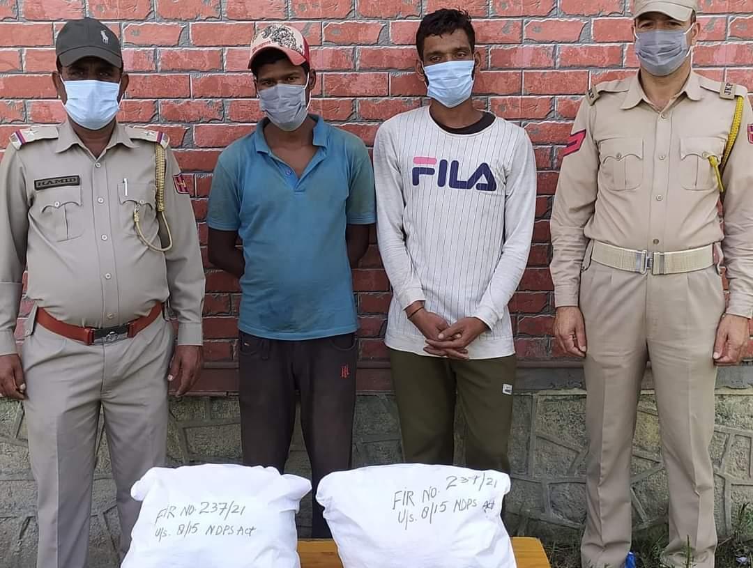 Budgam Police arrested 02 Drug Peddlers; recovered contraband substance