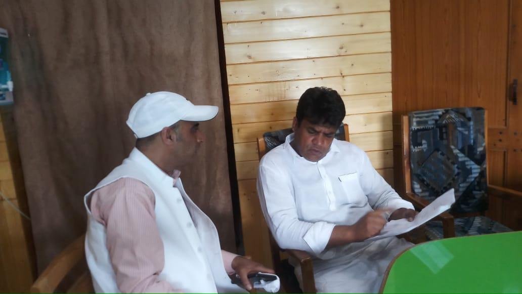 Noted social activist cum sarpanch haril Rayees Ahmad Mir meets DDC Chairman kupwara.