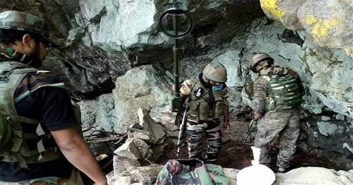 Forces Busted Militant Hideout, Recover AK47 Pistols Hand Grenades From Bandipora