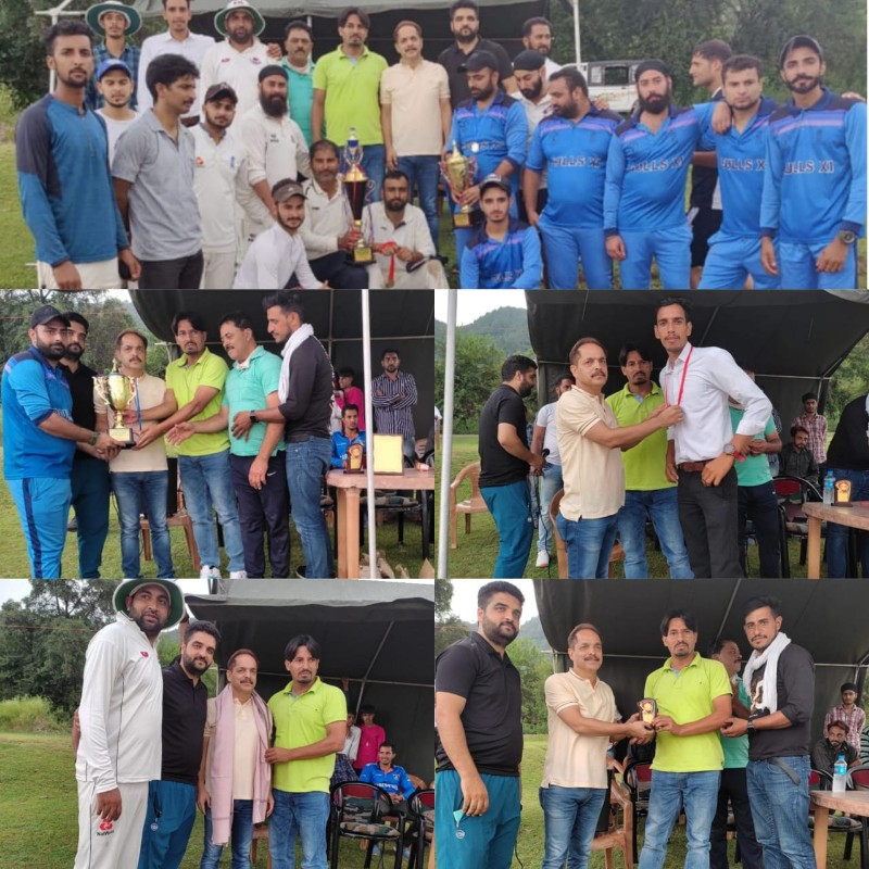 Shaheed Aurangzeb cricket Tournament concluded at jhulas in Poonch district