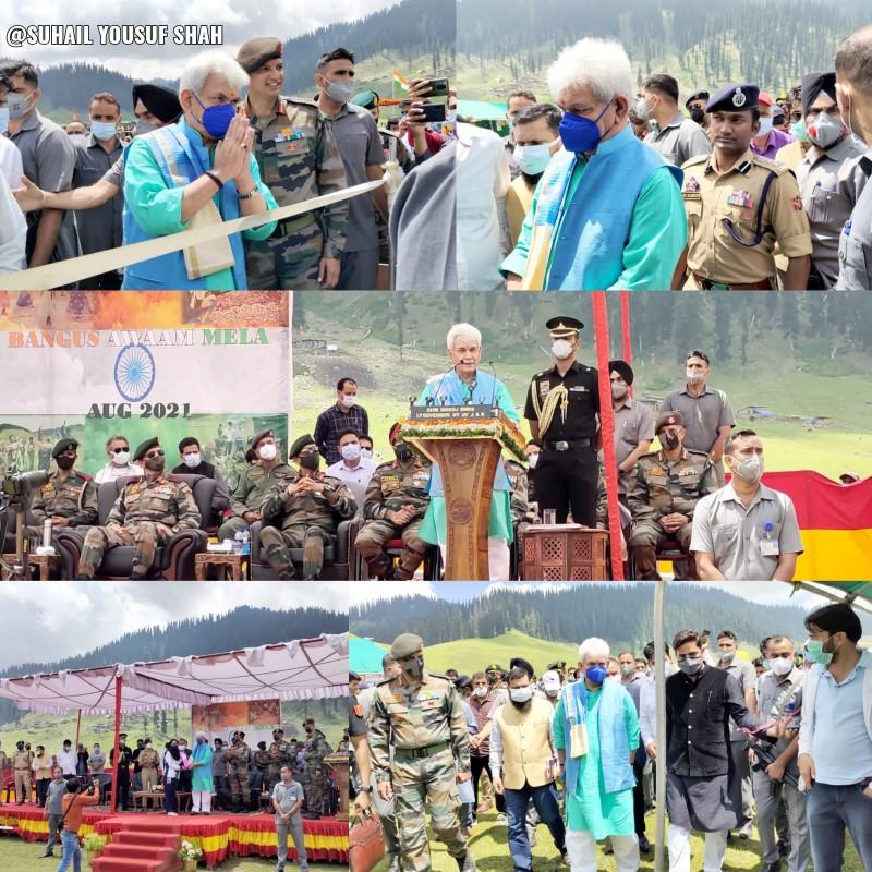 Lieutenant Governor Manoj Sinha Tours Wadi-Bangus To promote tourism in Jammu and Kashmir