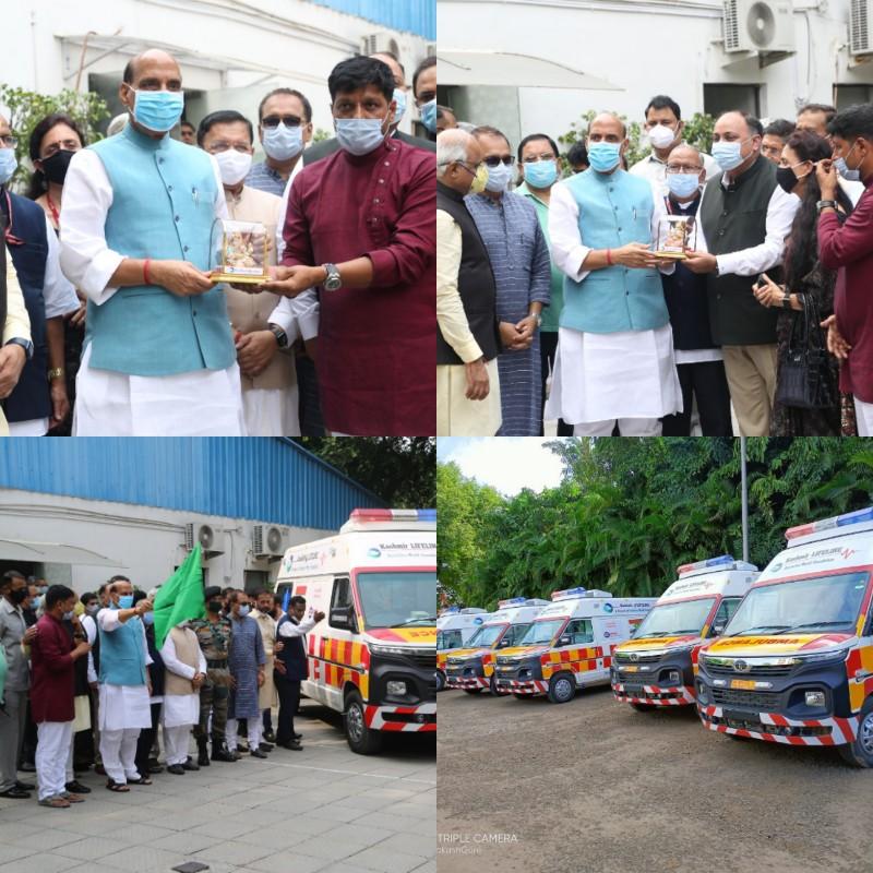Rajnath Singh flags off Army's fleet of 5 trauma care ambulances