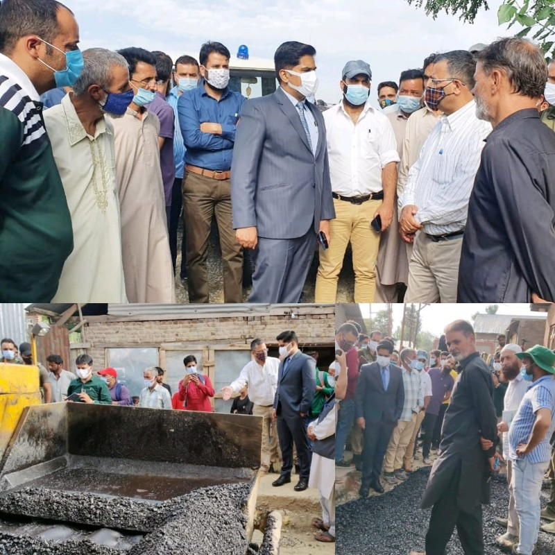 DC Bandipora tours Shilvat, Sarai-Dangerpora; inspects developemntal works Stresses on executing agencies to maintain highest standard of quality