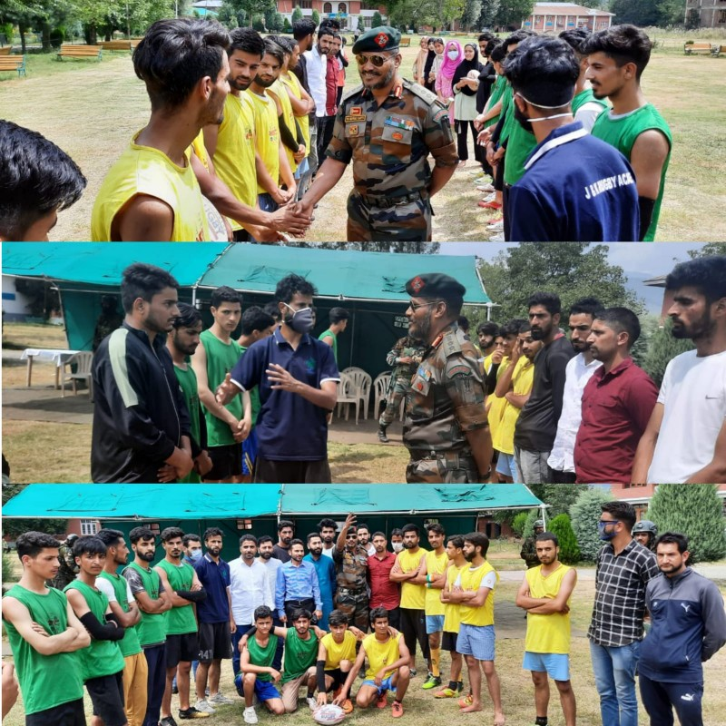 Kupwara Rugby Association gets a boost by Indian Army on National Sports Day