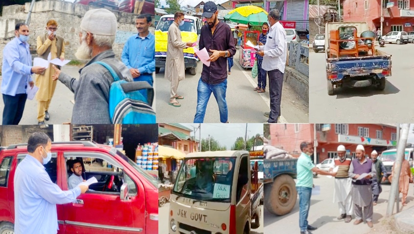 IEC Campaign DIPR Kupwara urges people to implement COVID SOPs