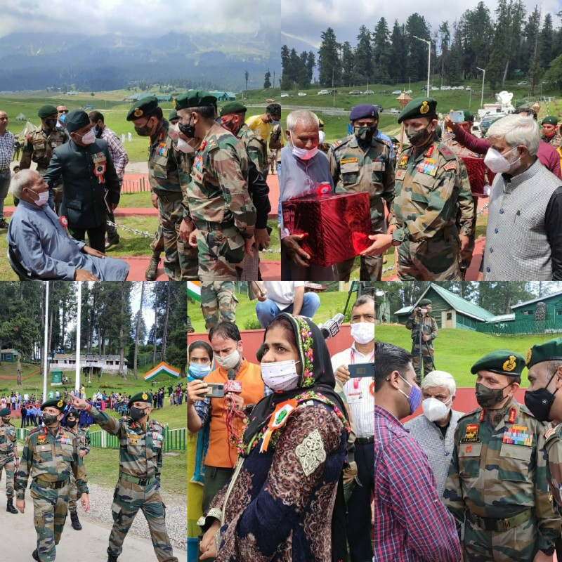 Indian Army install iconic National Flag at Gulmarg