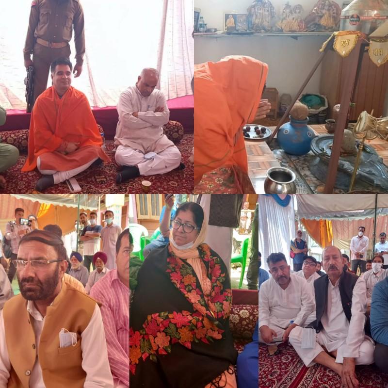 BJP State president J&K Ravinder Raina Visits Rafiabad