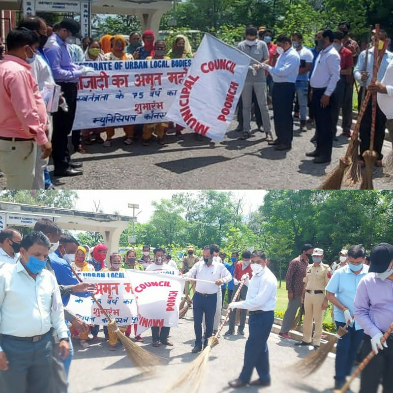DC launches special sanitation drive in Poonch town