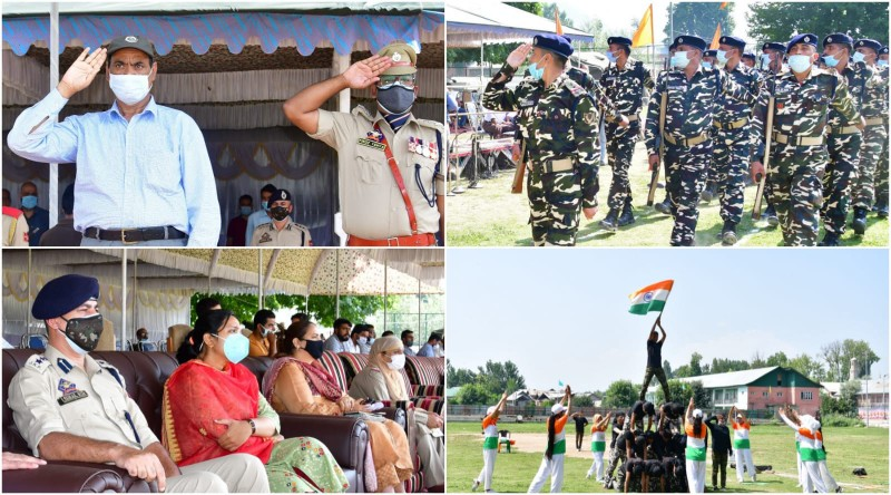 ADDC G'bal unfurls tricolor on full dress rehearsal for I-Day