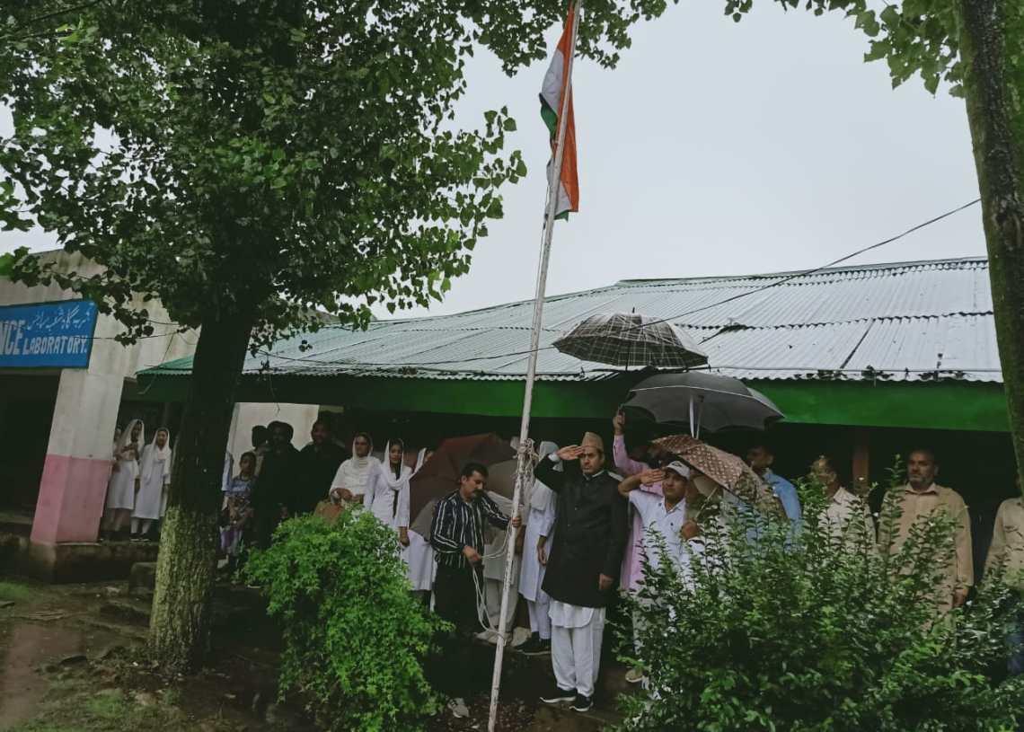Independence Day celebration at Govt HSS Harni