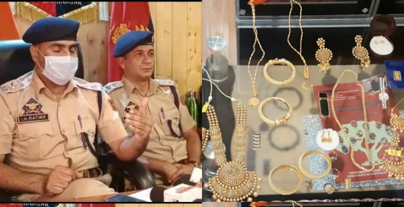 Police Solved theft case in Srinagar by arresting one lady within hours and recovered stolen items worth Rs 60-70 lakhs.