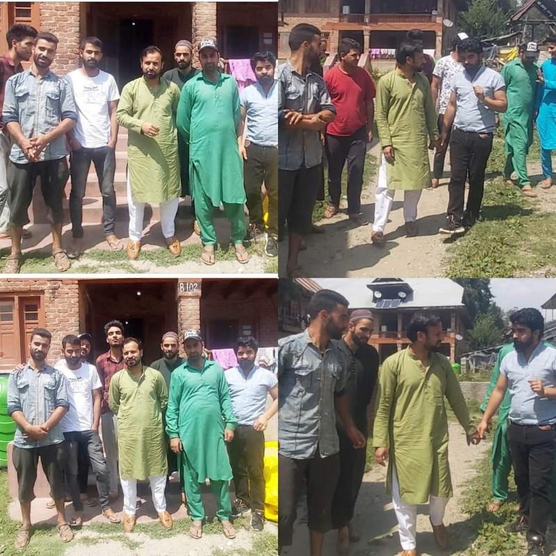 Mudasir Tantary visited Zachaldara held youth Interaction.