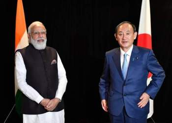 Indian Prime Minister Narendra Modi and his Japanese counterpart Yoshihide Suga had a meeting in Washington DC