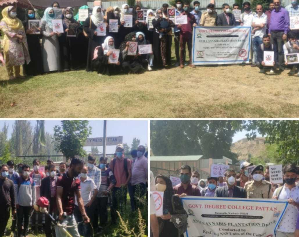 To Eliminate Drug abuse among young students, Degree College Pattan Organised Anti-Cannabis Drive